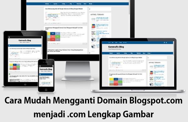Cara Mudah Mengganti Domain Blogspot.com Menjadi .com Lengkap Dengan Gambar