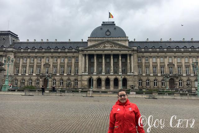 portrait devant le palais de justice de bruxelles