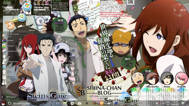 Windows 10 Ver. 1703 Theme Steins Gate by Enji Riz