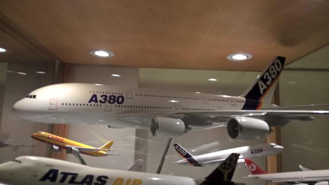Maket Airbus A380 modeli. İstanbul Havacılık Müzesi.