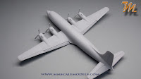 Delta Airlines Douglas DC-6, 1/144  scale model Mr. Finishing Surfacer 1500