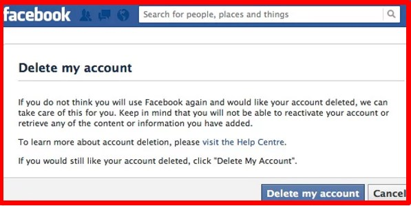 How to delete facebook account easily