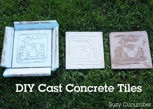 Suzy Cucumber: DIY Cast Concrete Tiles
