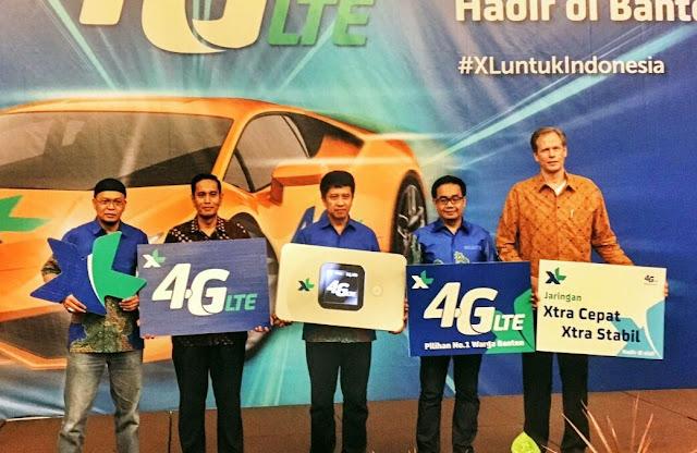 XL Launching Jaringan 4G LTE Di Banten