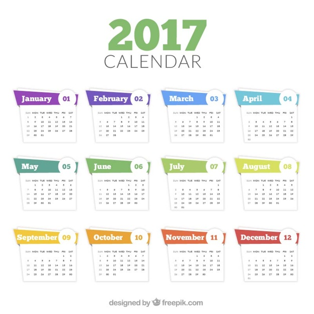 Download Template Kalender 2017 Abstrak Keren