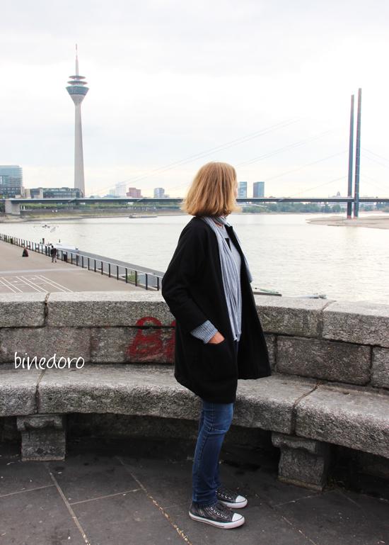 binedoro Blog, nähen, Mantel, Frau Ava, Hedi, Kleidung, Probenähen, Street Style