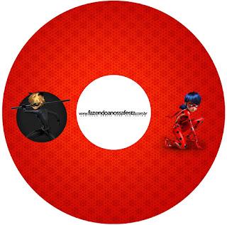 Etiquetas de Prodigiosa Ladybug para CD's.