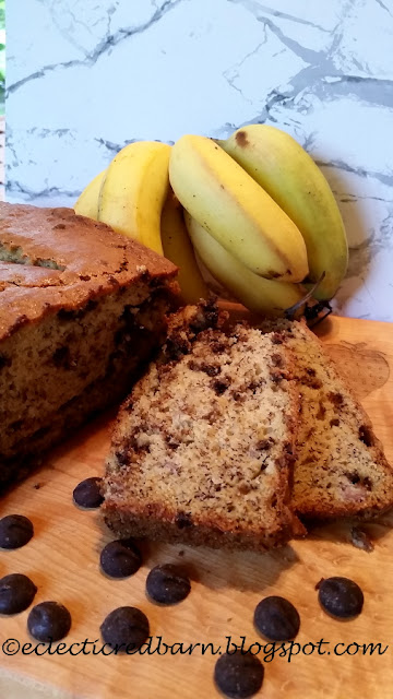 Eclectic Red Barn: Chocolate Chip Banana Bread