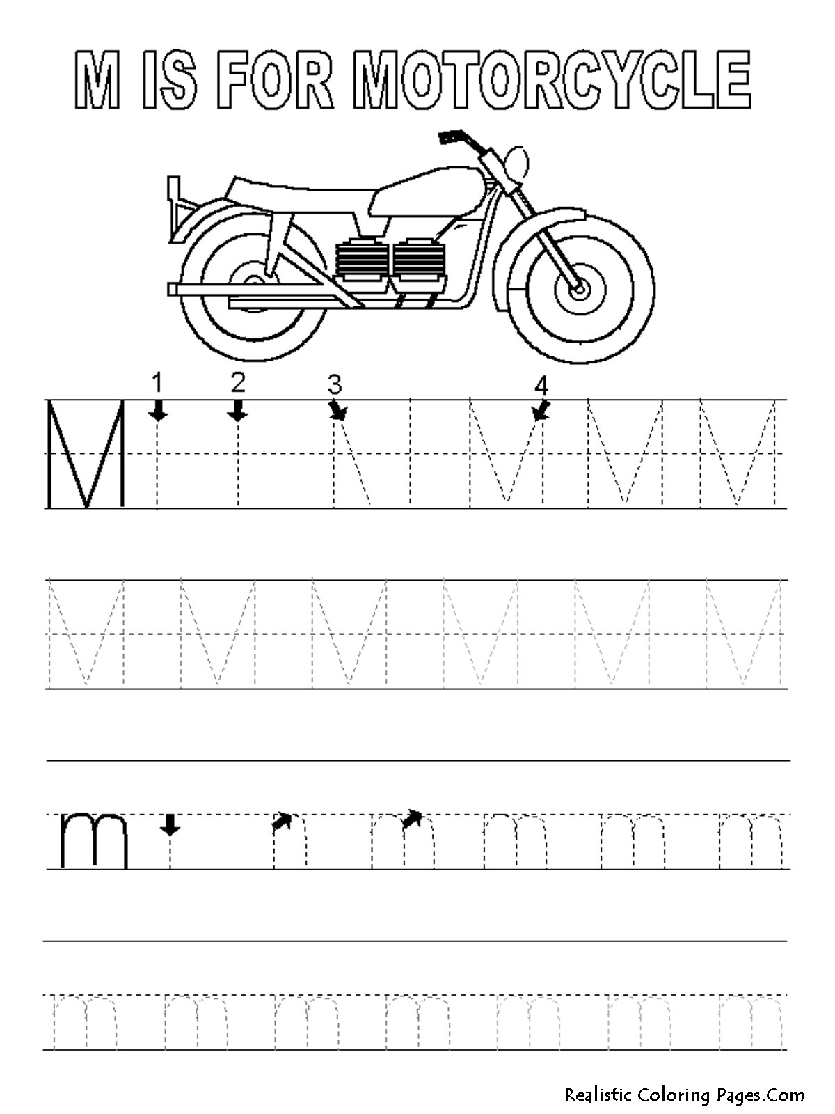 m letters alphabet coloring pages realistic coloring pages. Black Bedroom Furniture Sets. Home Design Ideas