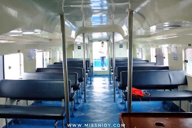 kelas bisnis KM Express Bahari ke Pulau Tidung
