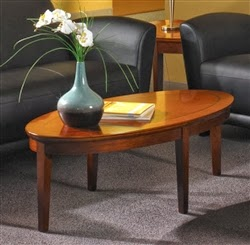 Sorrento Series Oval Coffee Table by Mayline