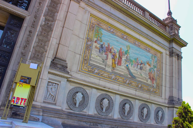museum of italian art beautiful facade