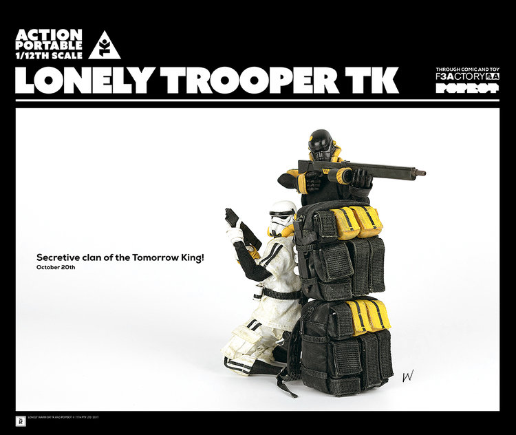 1 White Version Three A Lonely Trooper TK Sergeant 12 Scale Action Figure