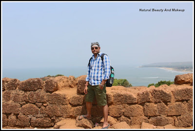 Nabendu kishore chattopadhyaya at Chapora Fort, North Goa