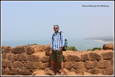 Nabendu kishore chattopadhyaya at Chapora Fort, North Goa