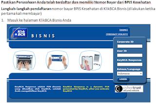 Pembayaran bpjs online melalui klik bca bisnis