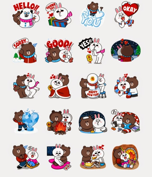 LINE Stickers Community: Free line sticker -Brown & Cony's ...