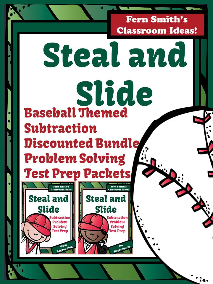 http://www.teacherspayteachers.com/Product/Test-Prep-Discounted-Bundle-of-Baseballs-Steal-and-Slide-Method-Subtraction-1099819