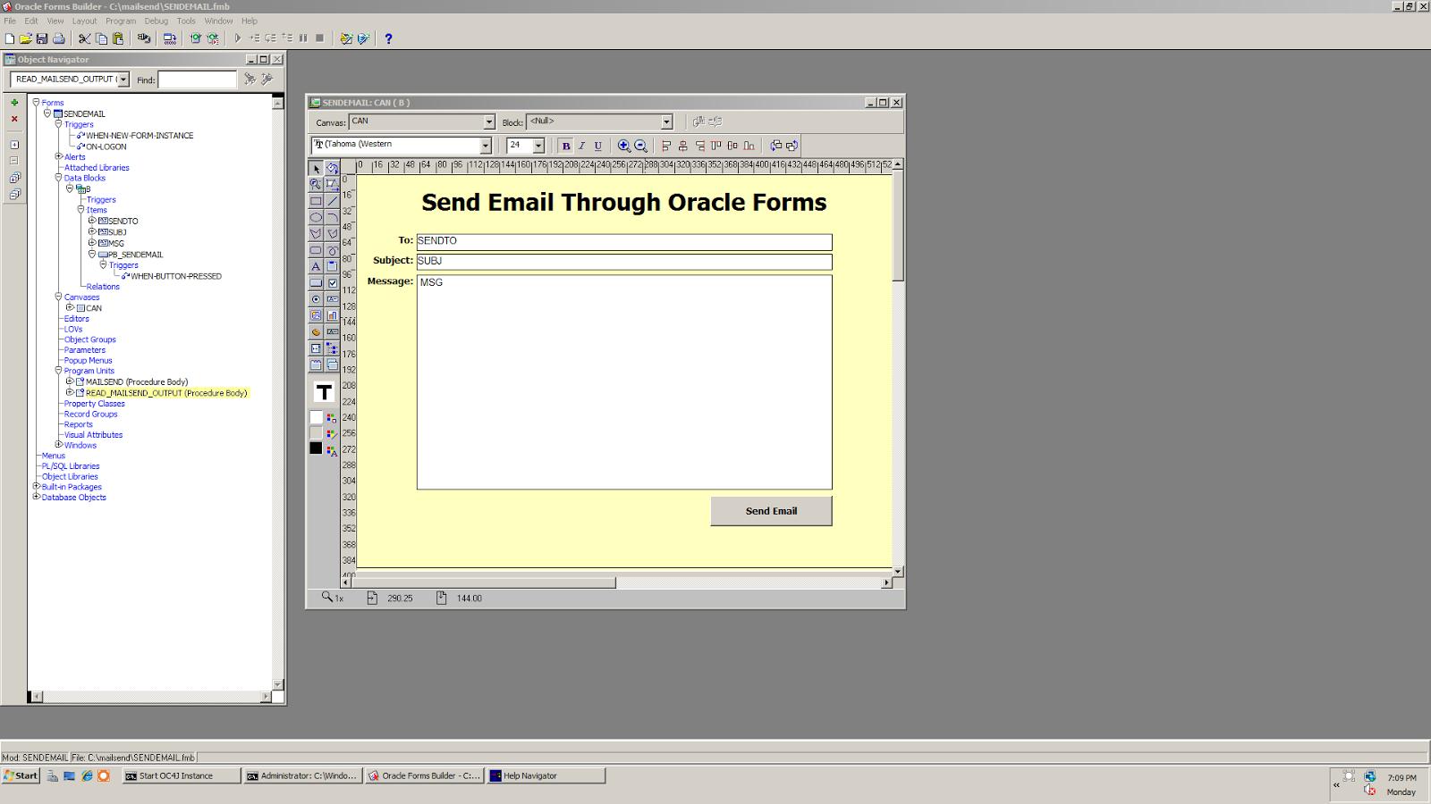 Hasan Jawaid: Send Email via Oracle Forms