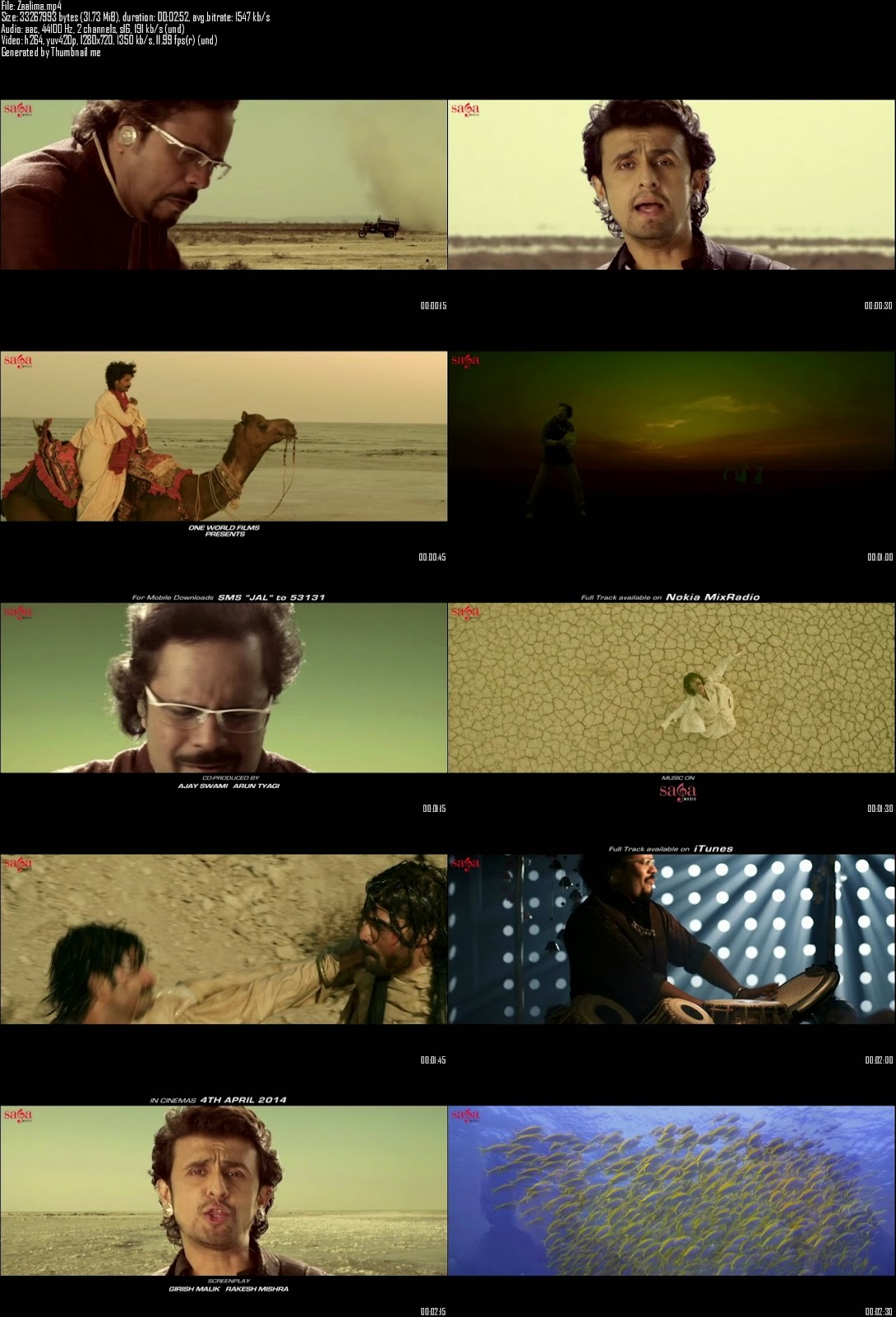 Mediafire Resumable Download Link For Video Song Zaalima - Jal (2014)