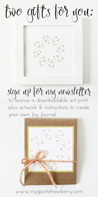 newsletter, sign up gifts, subscriber gifts, free art, free downloadable watercolor art, joy journal, Anne Butera, My Giant Strawberry