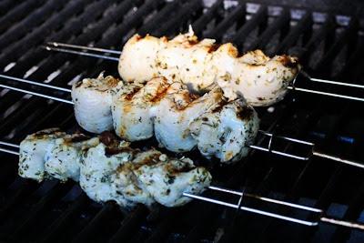 Chicken Souvlaki found on KalynsKitchen.com.
