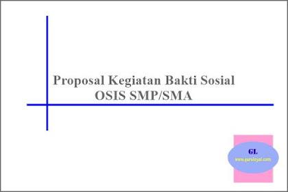 Proposal Kegiatan OSIS terkait Bakti Sosial