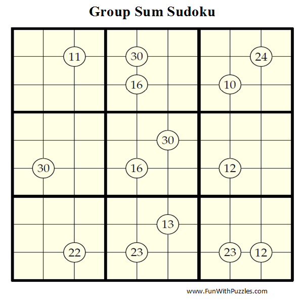 Group Sum Sudoku (Daily Sudoku League #44)