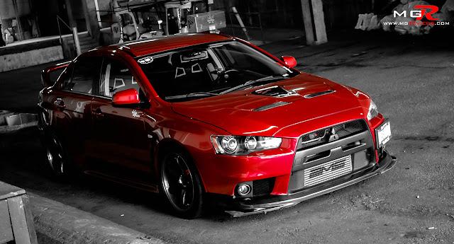 Modifikasi Mobil Mitsubishi Lancer red dragon