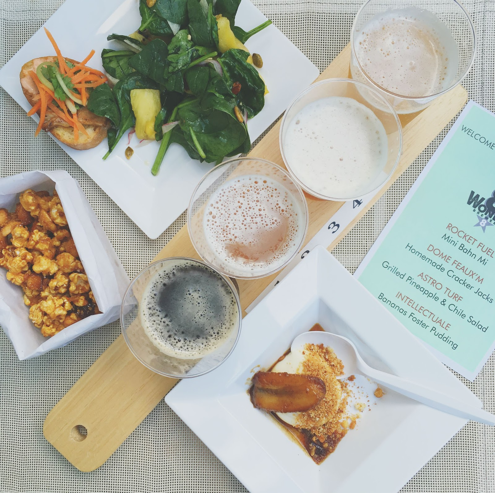 food and beer pairing at Sundown at The Grove - a Houston summertime food and drink event