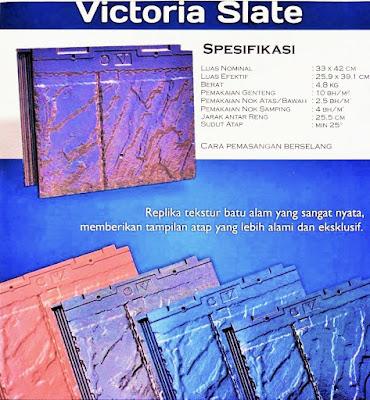 varian victoria slate genteng beton flat cisangkan jogja yogyakarta