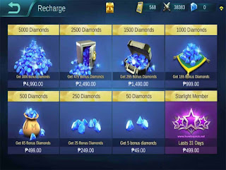 Diamonds in Mobile Legends