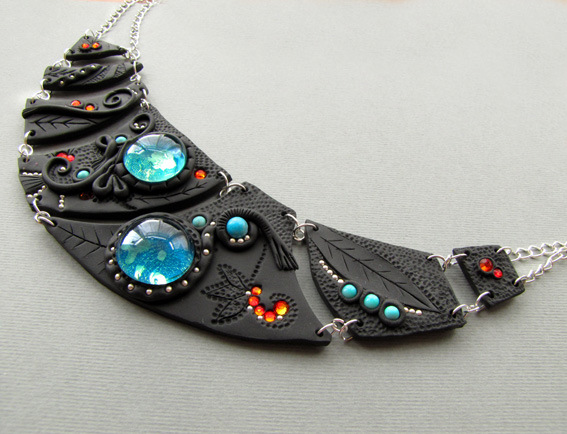 in clay the sparkle krinna on deviantart night polymer from pendant art by