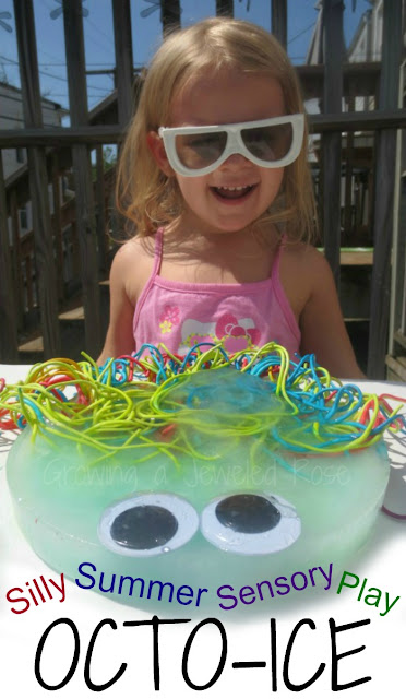 Silly Summer Fun with OCTO-ICE-  a creative way to stay cool while playing in the sun!