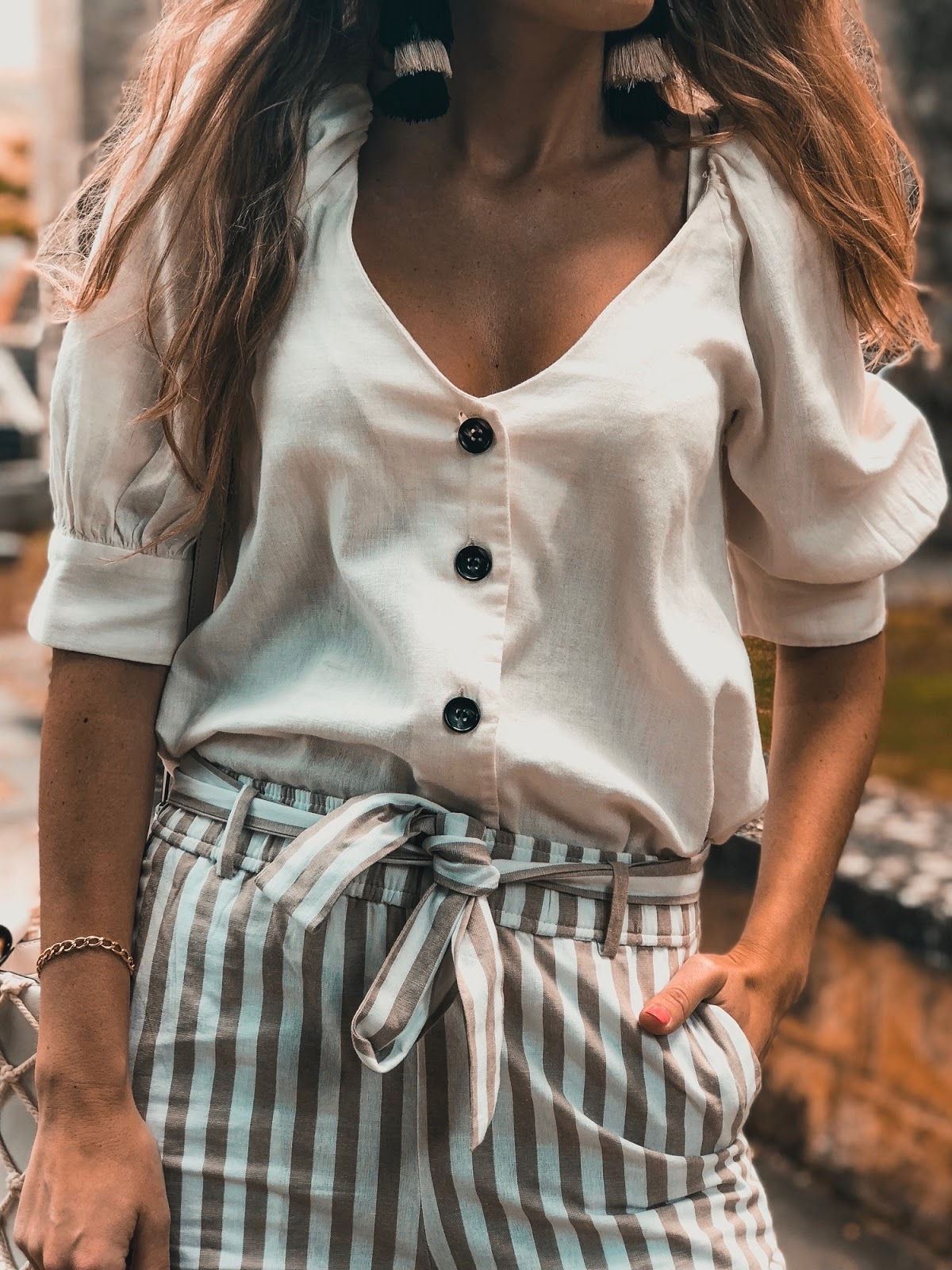 blusa de lino zara