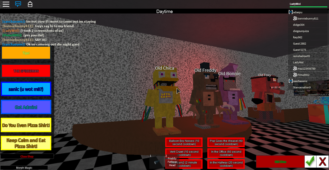 Blog De Roblox Old Animatronics Rule About This Blog