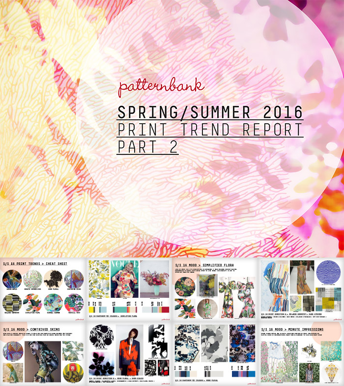 TRENDS // PATTERNBANK - PRINT TREND REPORT PART II - S/S 2016