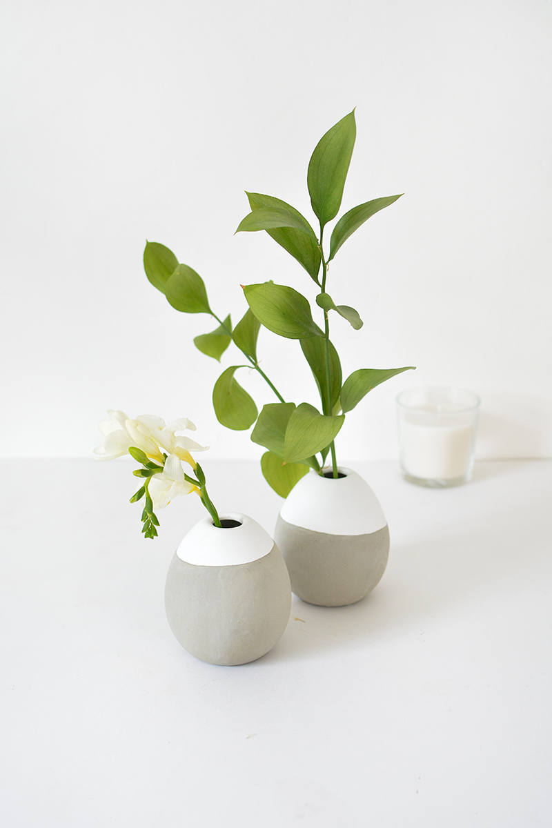 how to make concrete vases