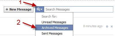 How to delete archived messages