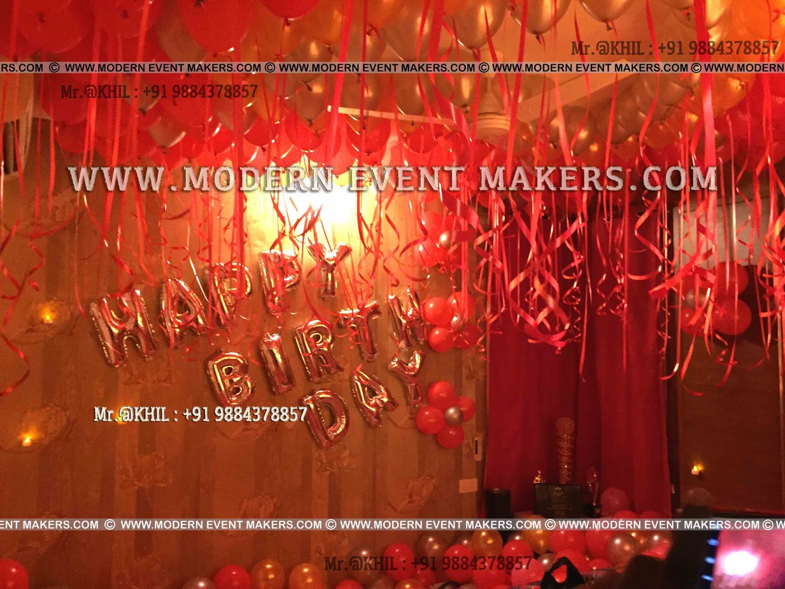 The Best Birthday Party Organiser In Chennai 9884378857 Balloon Surprise Decoration At Home