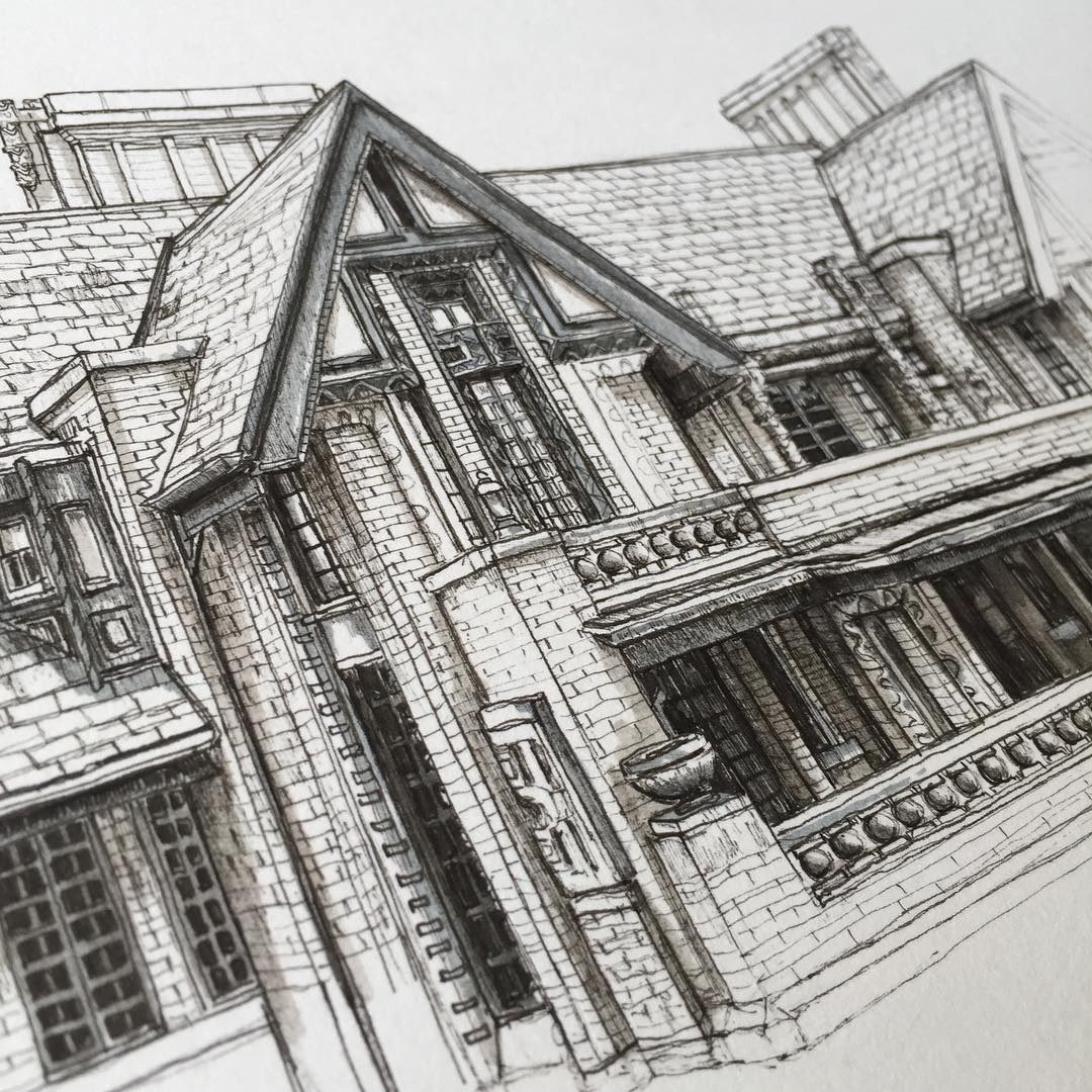 10-Manor-House-Phoebe-Atkey-Eclectic-Mixture-of-New-and-Old-Details-and-WIPs-Sketches-www-designstack-co