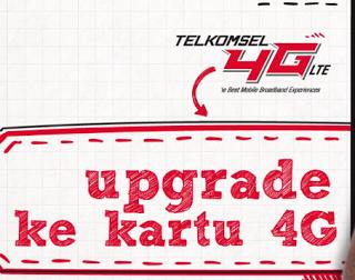 Cara Mengupgrade Kartu Telkomsel 3G Ke 4G Tanpa Harus Mengganti Nomor
