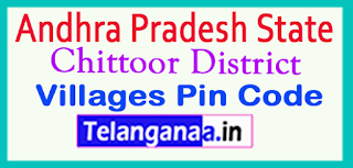 Chittoor District Pin Codes in Andhra Pradesh  State