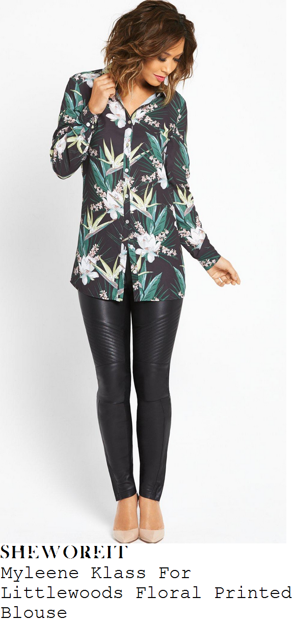 myleene-klass-myleene-klass-for-littlewoods-black-white-green-floral-print-blouse