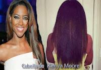 Como Kenya Moore cuida su cabello