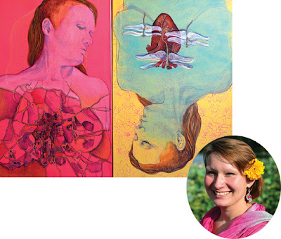 Katarina Rasic and her work 'Heart of the City' HuesnShades