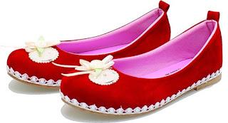 Sepatu Anak Perempuan  Tanpa Tali Aksesoris Bunga BAS 466