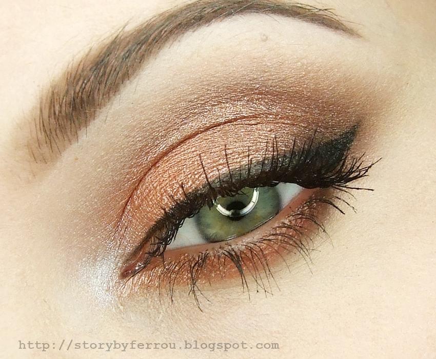 Ferrou Makeup Blog Makijaż Kosmetyki Miedziano Brązowy Dzienny