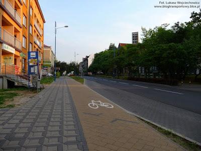 Przystanek, ścieżka rowerowa