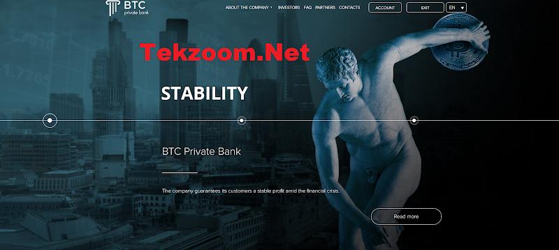 [SCAM] Review BTC Private Bank - Lãi up 4% hằng ngày - Đầu tư tối thiểu 1$ - Thanh toán Manual